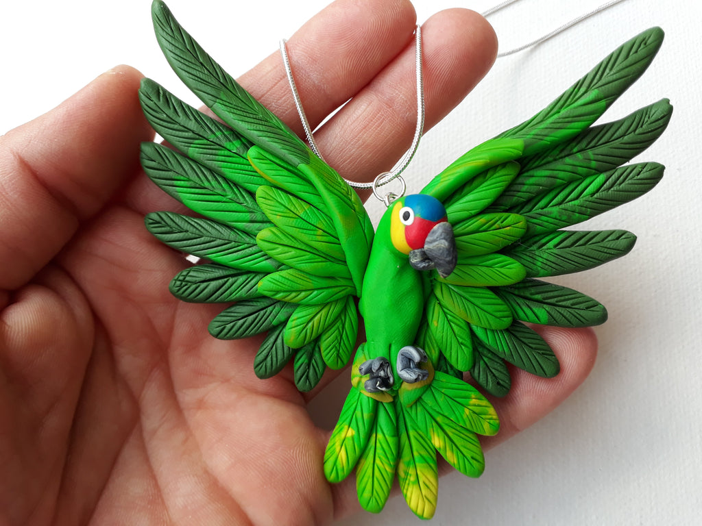 parrot handcrafted neckalces