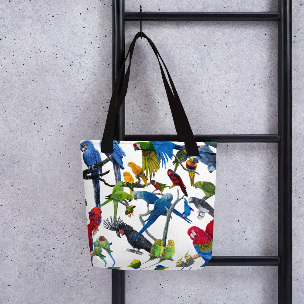 tote bags for parrot lovers