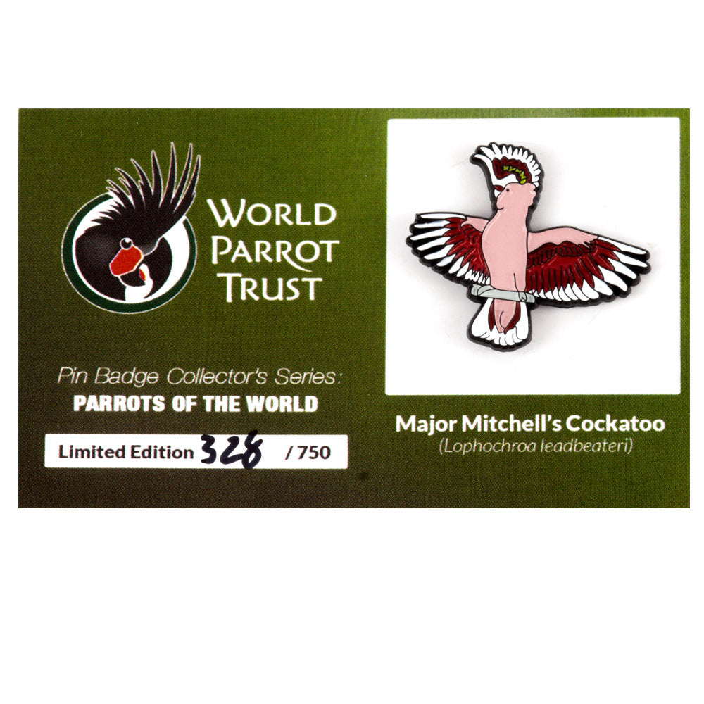 Collectors Enamel Pin Badges - no 1. Major Mitchell's Cockatoo - World Parrot Trust