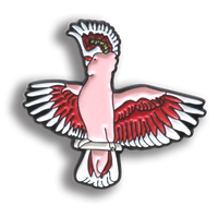 Collector's Enamel Pin Badges - no 1. Major Mitchell's Cockatoo - World Parrot Trust