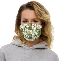 Premium face mask. Kakapo - World Parrot Trust