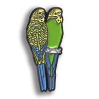 Collector's Enamel Pin Badges - no 4. Budgerigar - World Parrot Trust