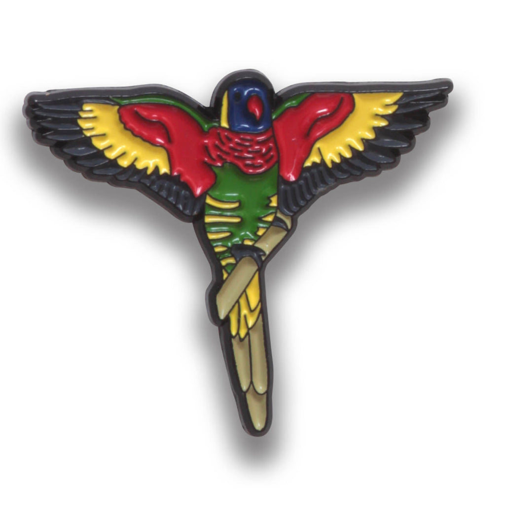 Collector's Enamel Pin Badges - no 14. Coconut Lorikeet - World Parrot Trust