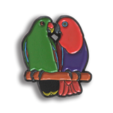 Collector's Enamel Pin Badges - no 7. Eclectus Parrots - World Parrot Trust