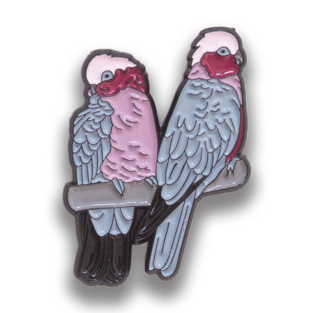 Collector's Enamel Pin Badges - no 17. Galah - World Parrot Trust