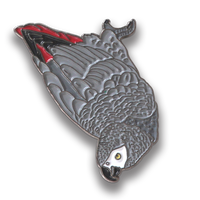 Collector's Enamel Pin Badges - no 5. African Grey Parrot - World Parrot Trust
