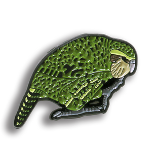 Collector's Enamel Pin Badges - no 10. Kakapo - World Parrot Trust