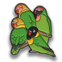 Collector's Enamel Pin Badges - no 11. Save the Lovebirds - World Parrot Trust