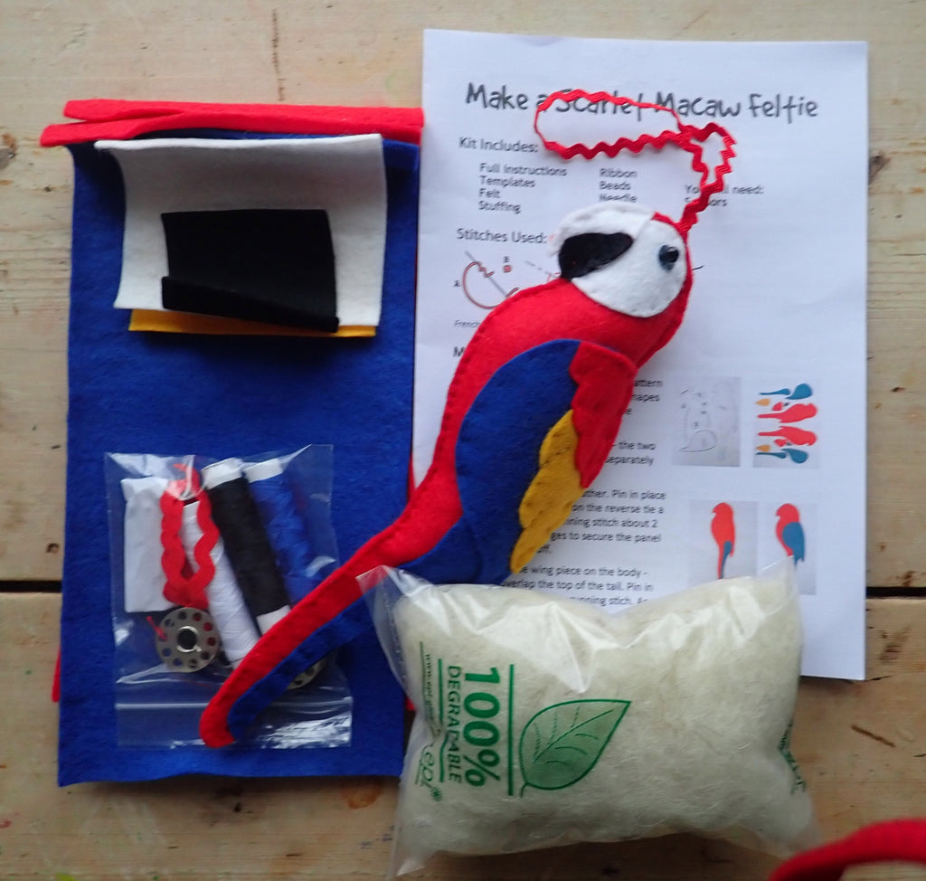 Felti - Sew your own Scarlet Macaw - World Parrot Trust