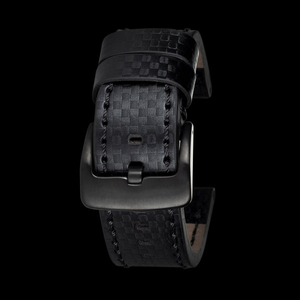 Black Stitching Carbon Fiber