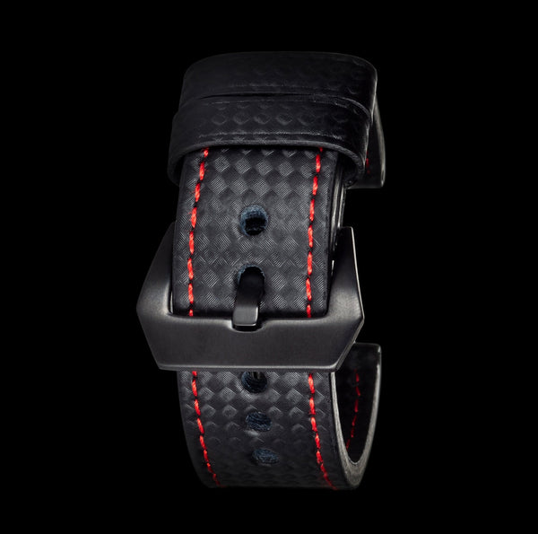Red Stitching Carbon Fiber