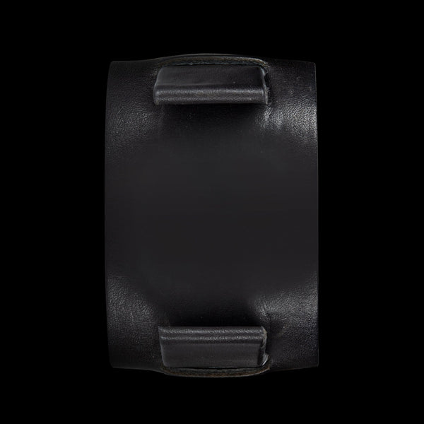 Black Dassary Leather Cuff Bund