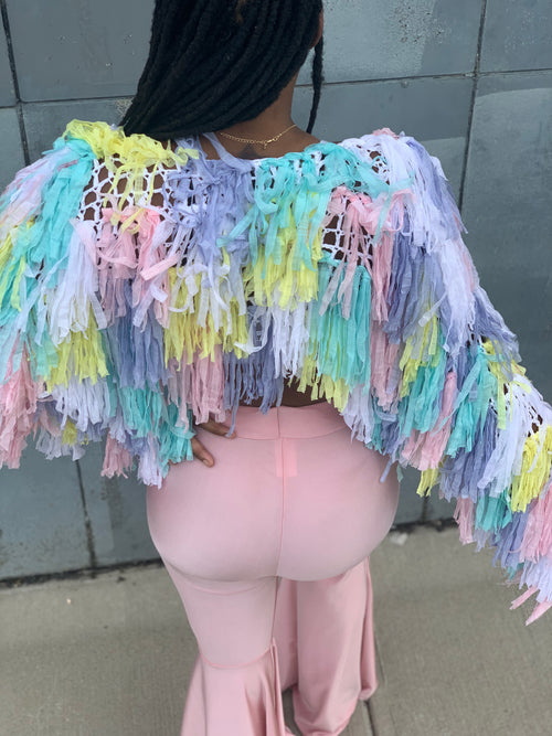 Cotton Candy Shag Top