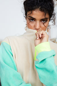 Orphic Jumper {mint/yellow}
