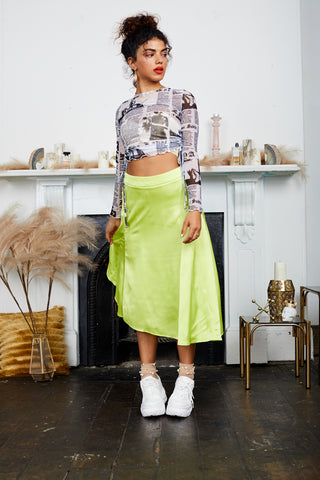 Poppy Skirt - Fluoro Yellow
