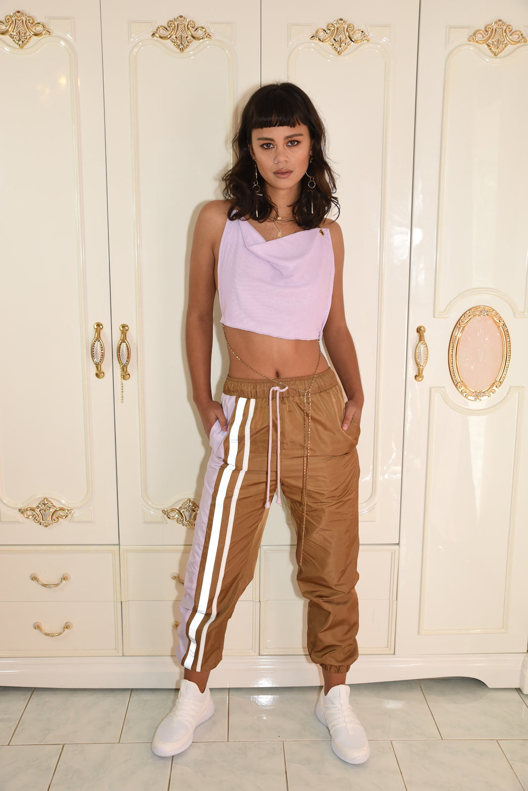 The Zone Track Pants {choc/violet}