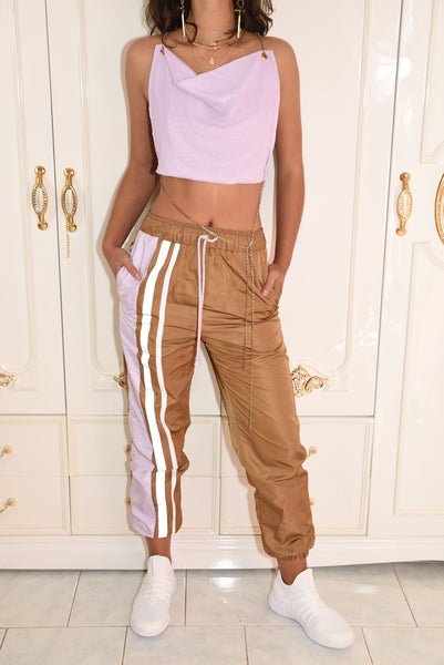 The Zone Track Pants - Choc Violet
