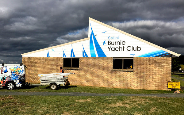 Burnie Yacht Club Building Signage