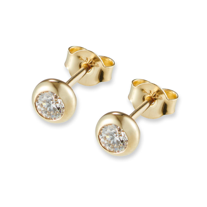Diamonds are FOREVER Studs in Yellow Gold
