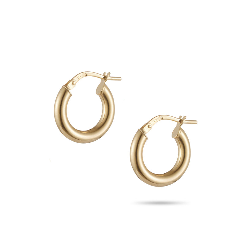 Italian Made Hoop Earrings 15mm
