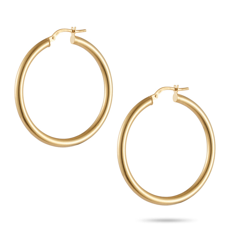 Italian Made Hoop Earrings 35mm