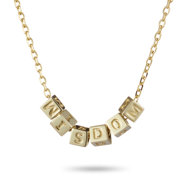 6 Cube Necklace in Yellow Gold
