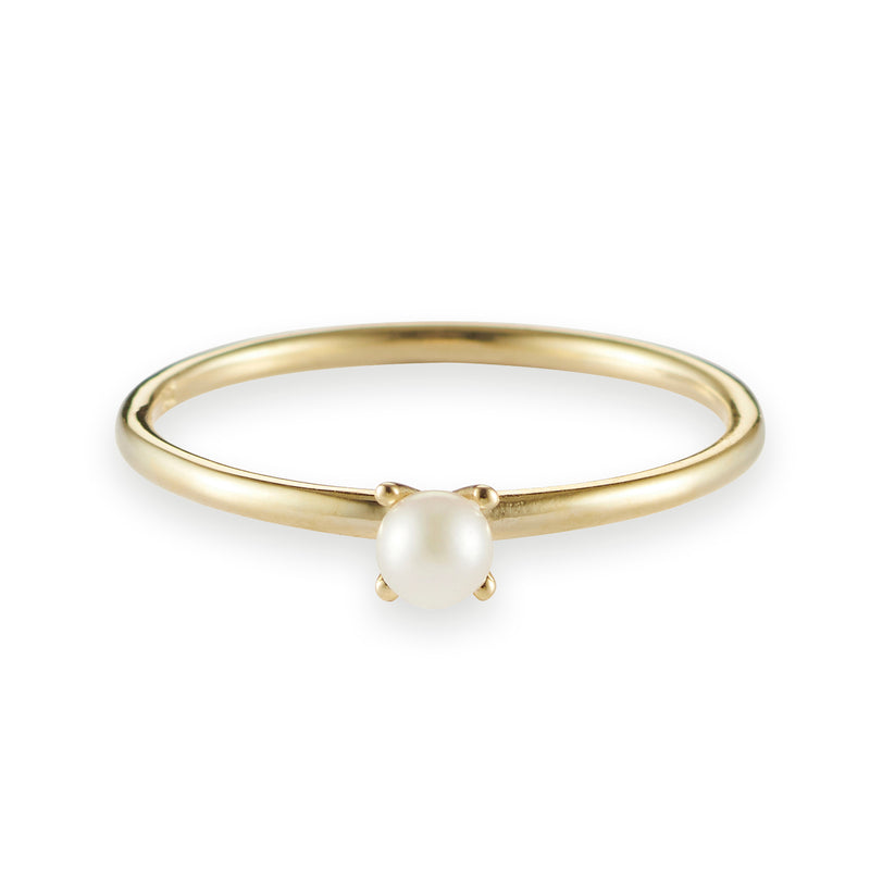 Akoya Pearl Stack Ring in Yellow Gold