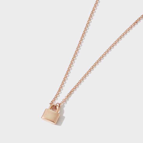 Love Lock Necklace in Rose Gold
