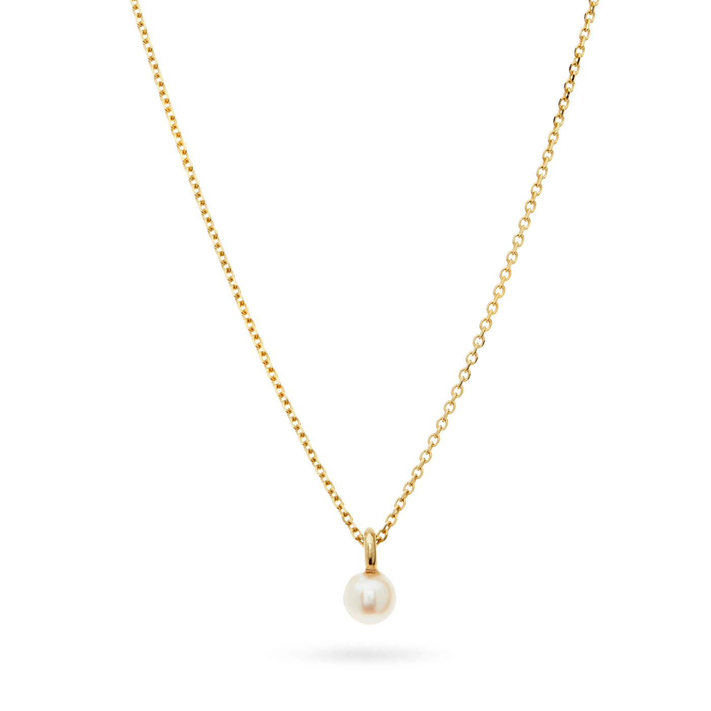Baby Pearl Necklace in Yellow Gold