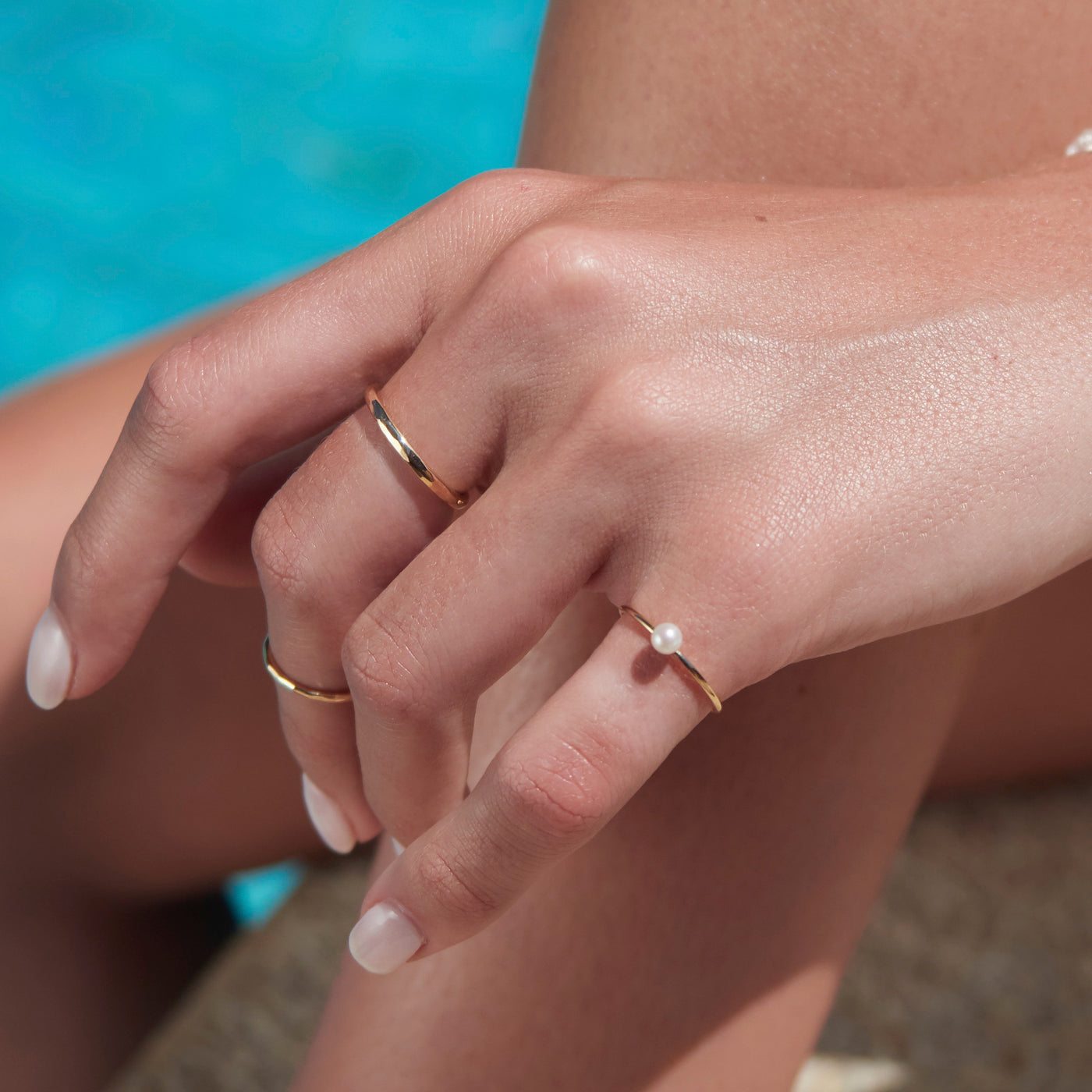 Baby Pearl Stack Ring