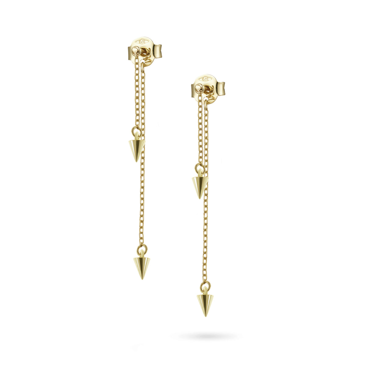 Baby Spike Double Drop Earrings