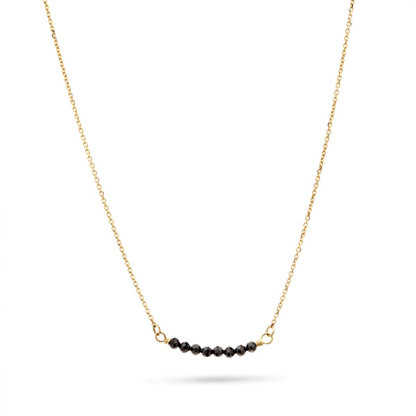 Gold and Black Spinel Necklace by Luke Rose