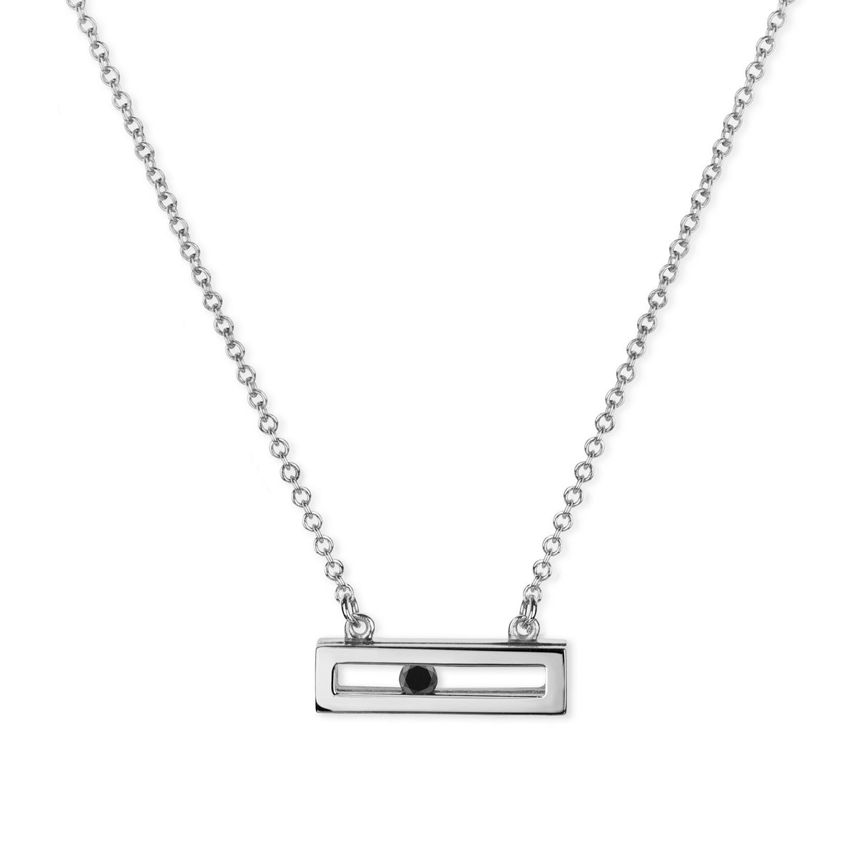 Luke Rose Jewellery white gold black diamond necklace