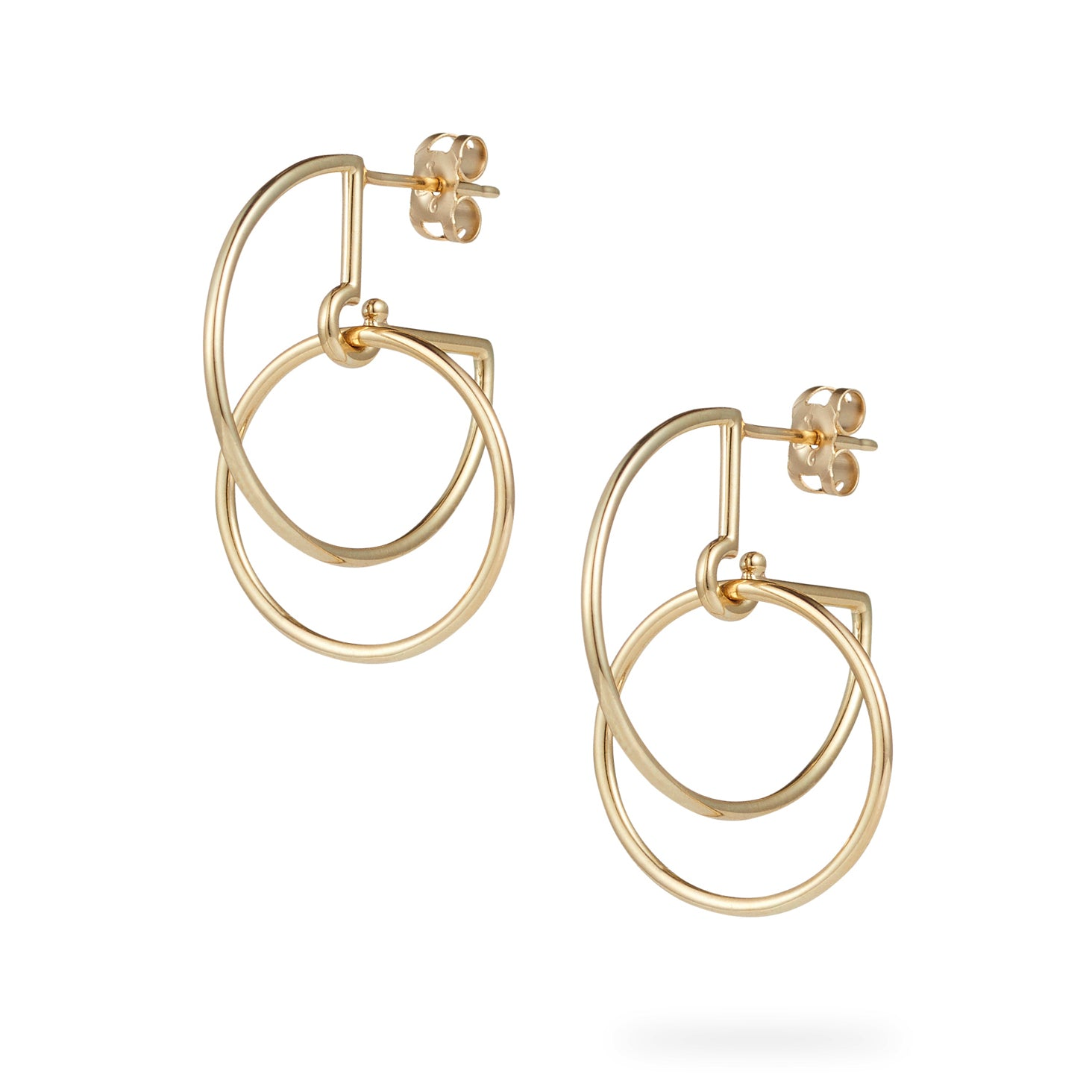 Luke Rose Jewellery Gold Circus Hoop Earrings