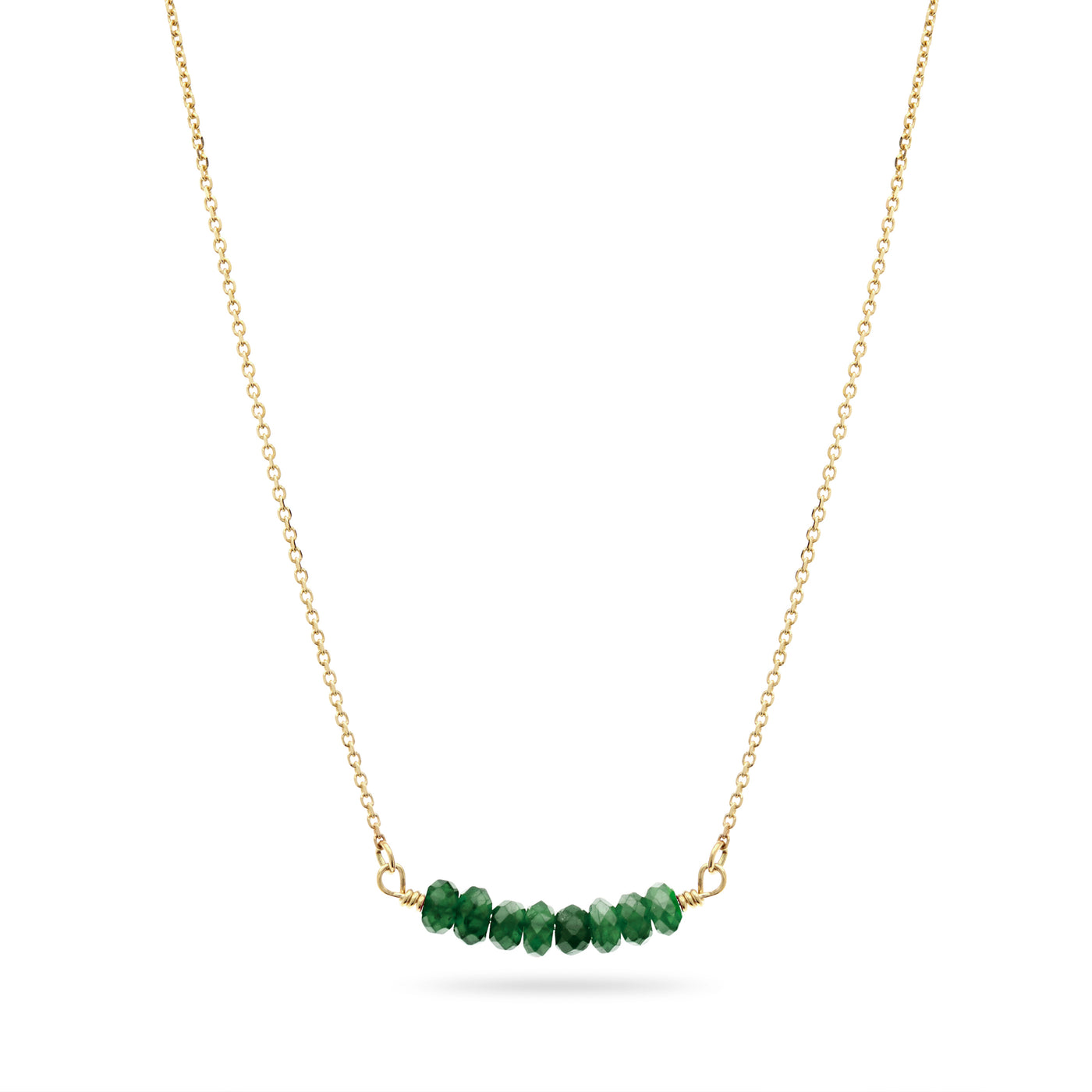 Emerald Smile Necklace in Yellow Gold