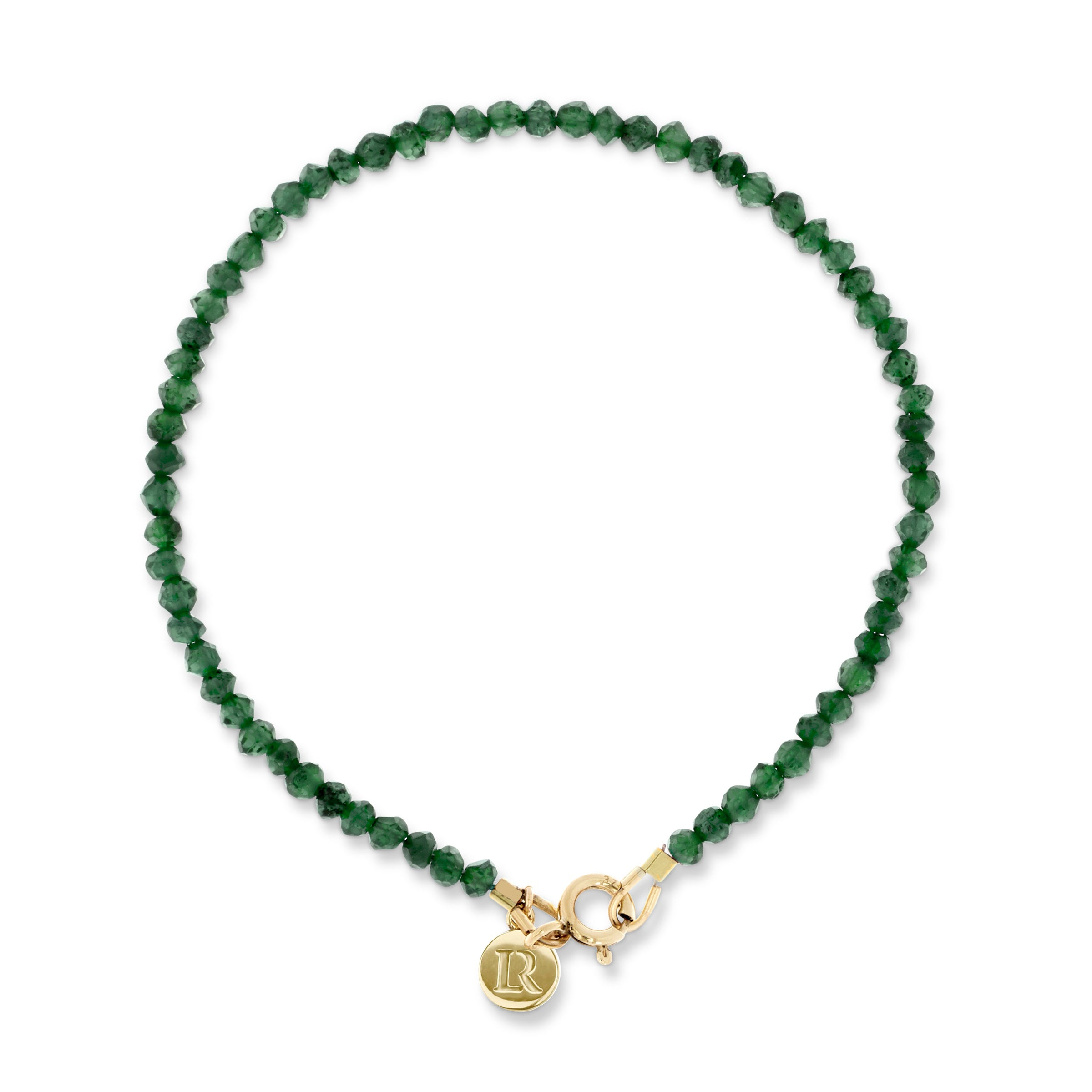 Gold and Emerald Bracelet by Luke Rose