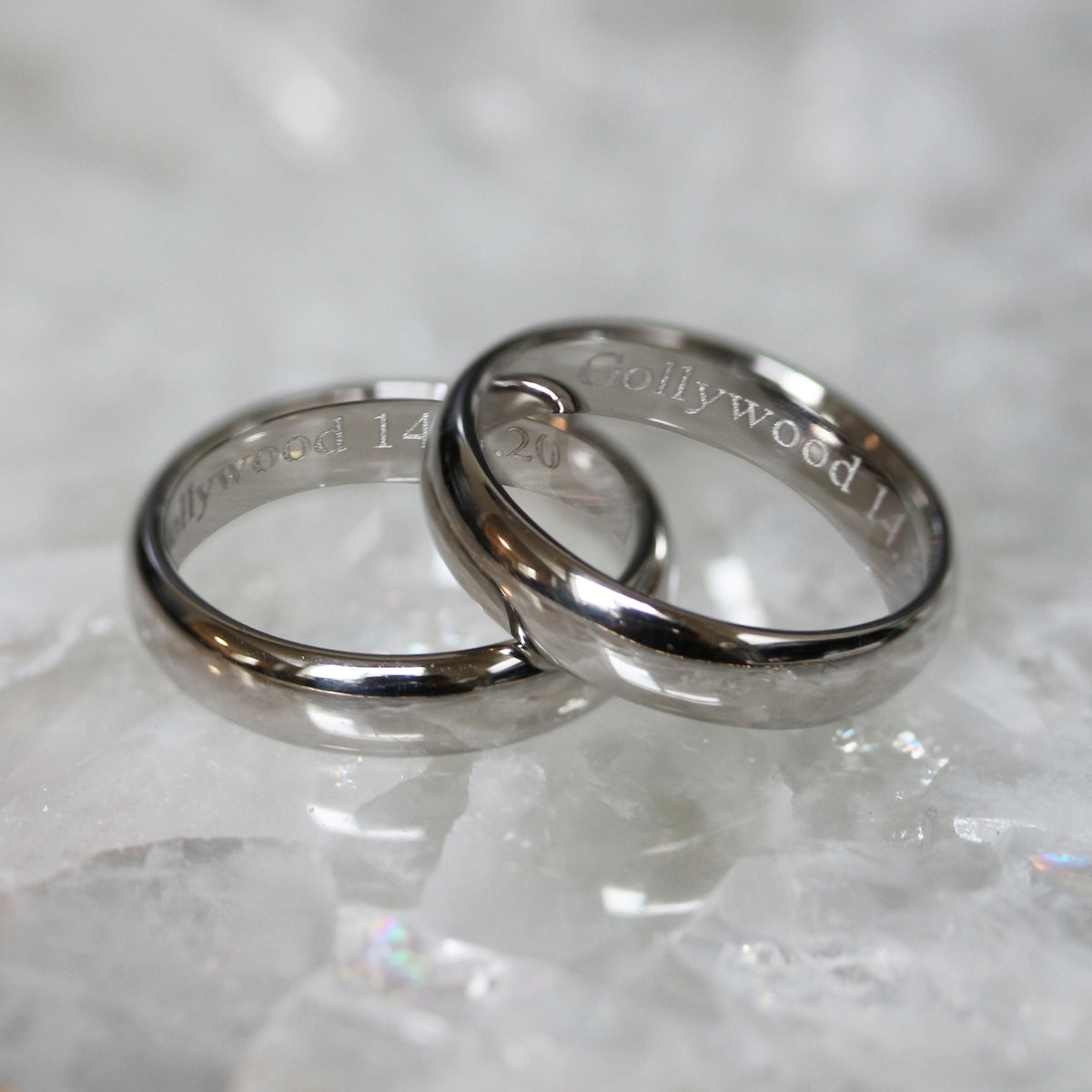 Handmade Platinum Wedding Bands