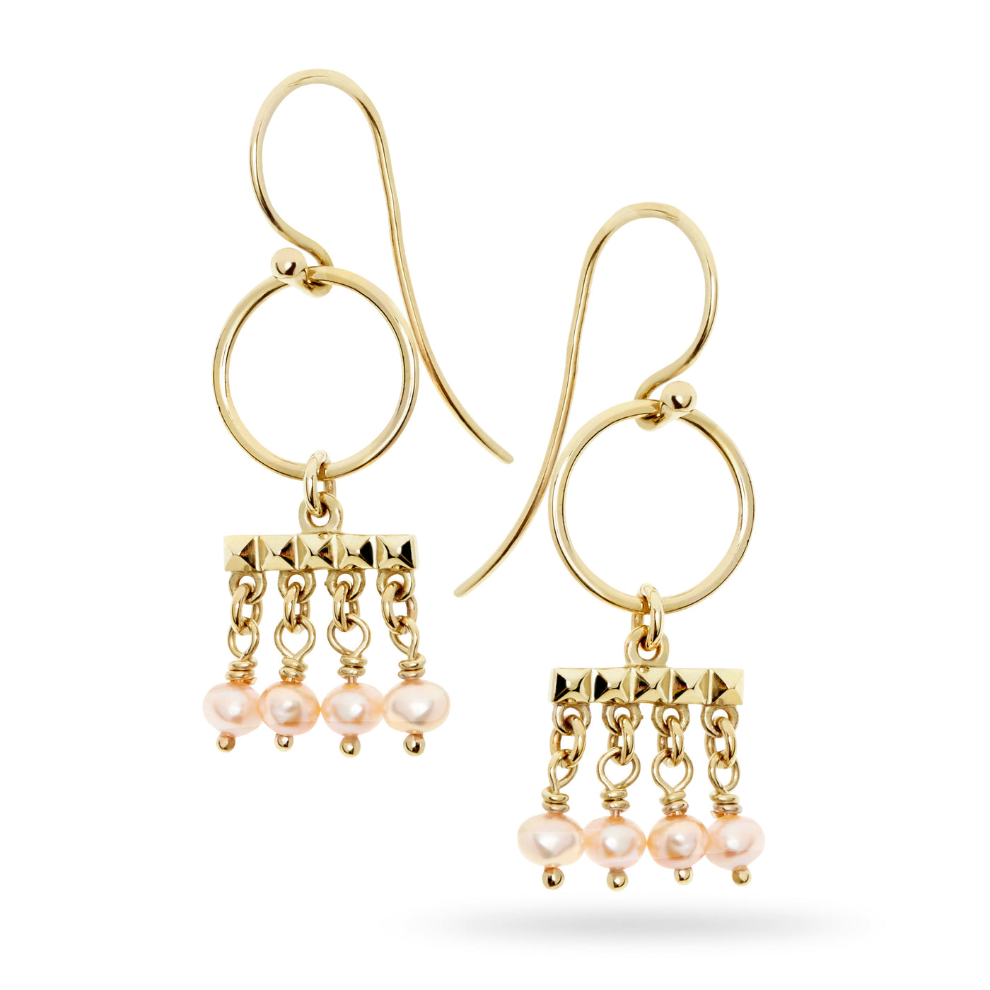Etruscan Pearl Drop Earrings