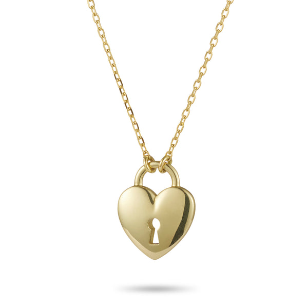 Key to my Heart Necklace in Yellow Gold