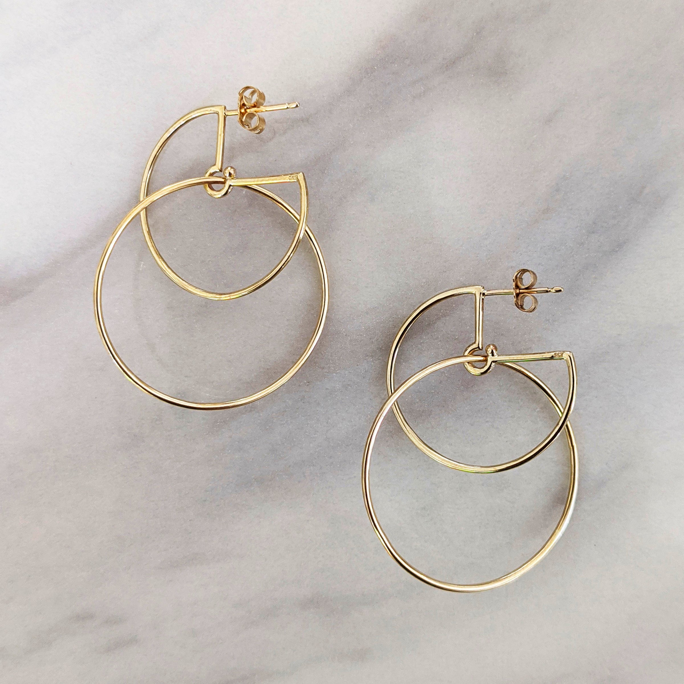 Large Gold Circus Hoops