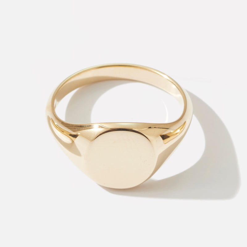 Large Signet Ring in Yellow Gold