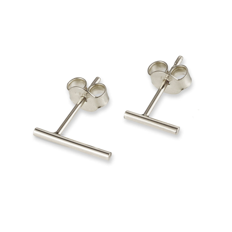 Linear Stud Earring in Sterling Silver