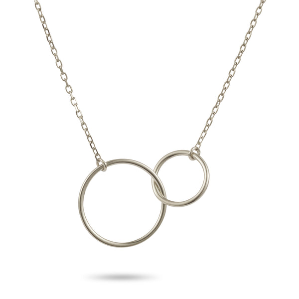 Linked Halo Necklace in Sterling Silver