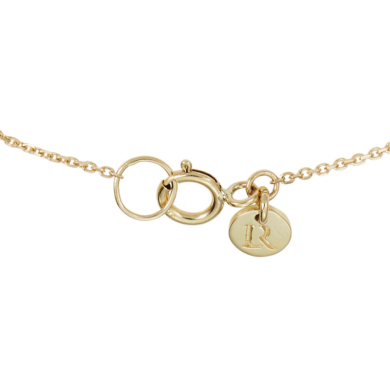 Linked Halo Necklace in Yellow Gold