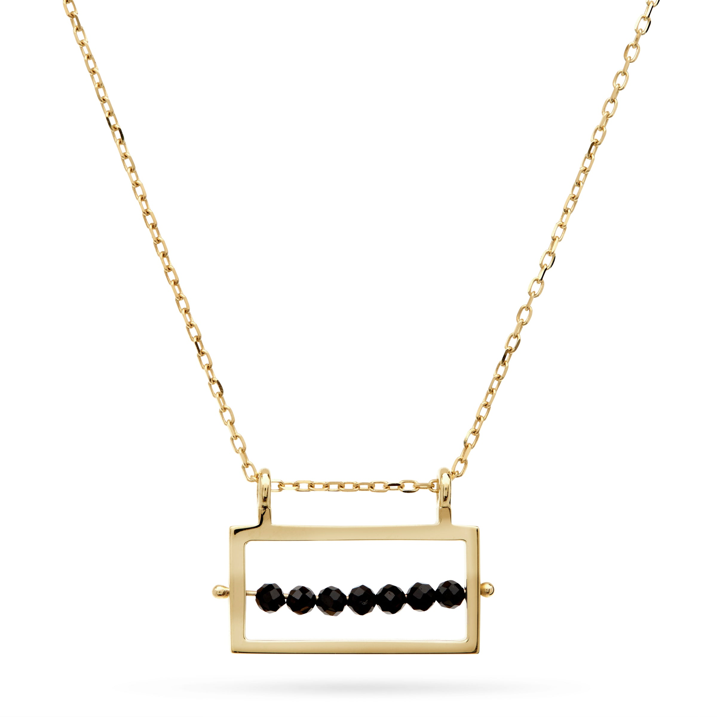 Gold Abacus Necklace by Luke Rose