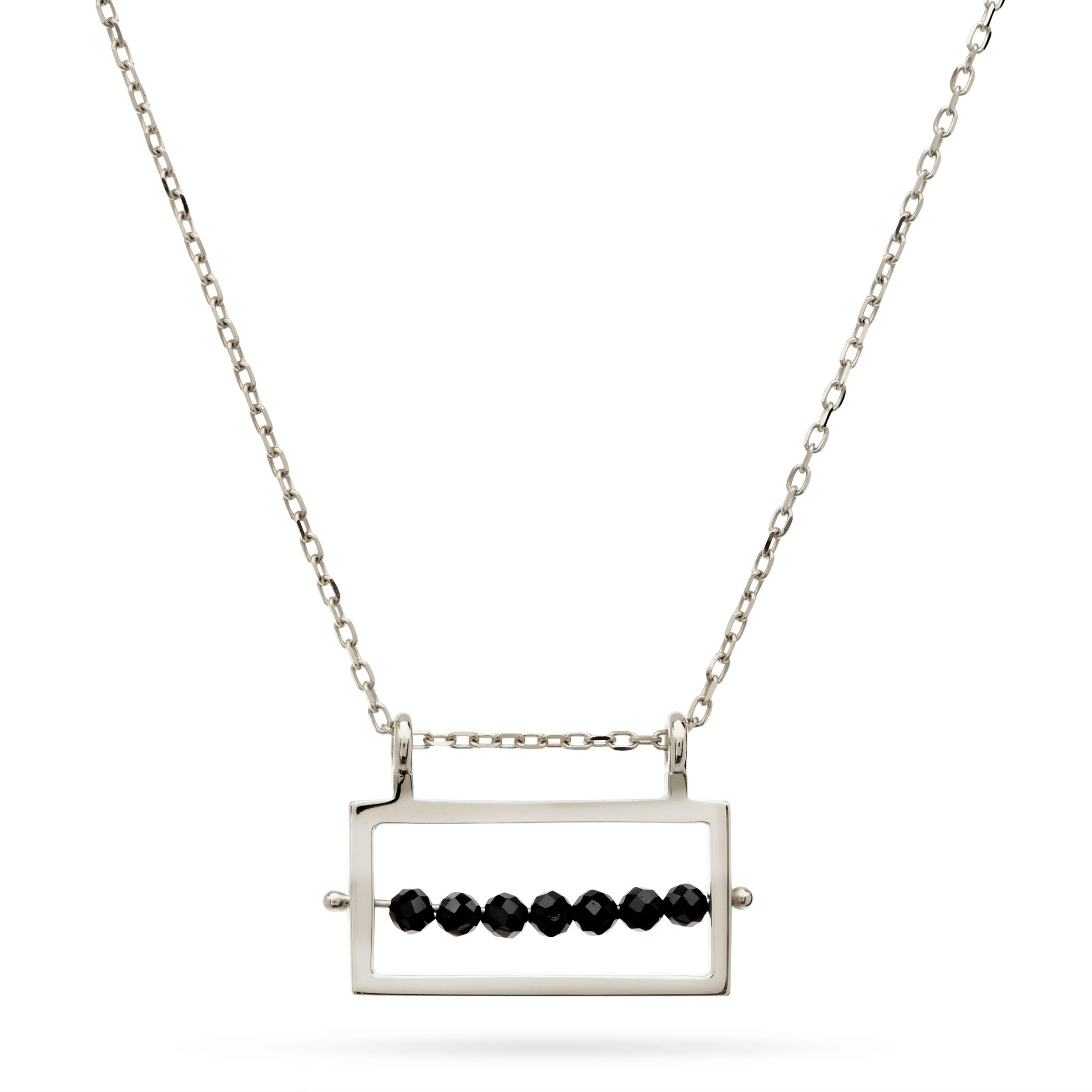 Silver Abacus Necklace by Luke Rose