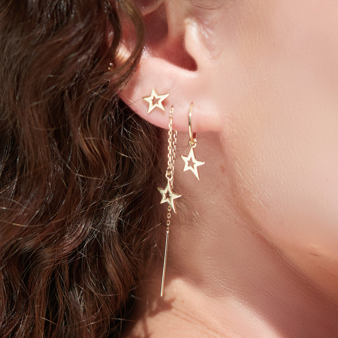 Lucky Star Sleeper Earrings