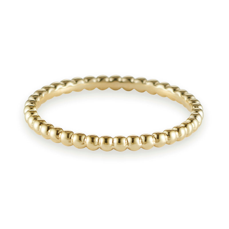 Dot Link Stack Ring in Yellow Gold