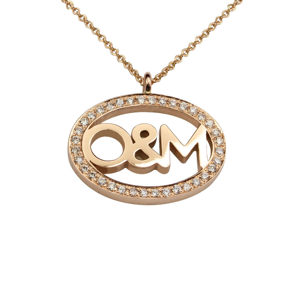 Rose Gold O & M Pendant.