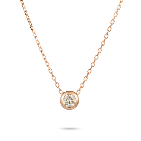 Diamonds are FOREVER Necklace in Rose Gold